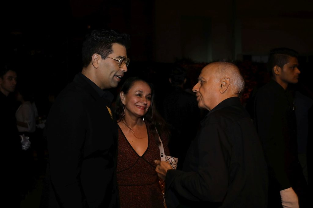 Image-Karan Johar, Mahesh Bhatt, Soni Razdan at the Hotstar Specials launch bash-MediaBrief