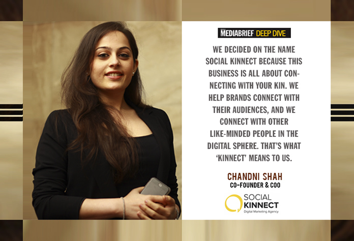 Chandni Shah Co-Founder and COO of Social Kinnect - Interview with Pavan R Chawla of MediaBrief
