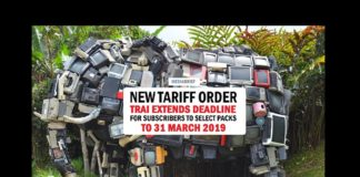 Image featured New Tariff Order - TRAI extends Subscriber pack selection deadline to 31 March 2019