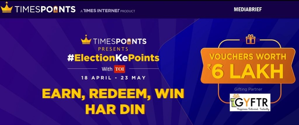 image-Indiatimes driving engagement with big wins promise - Times Points' ElectionKePoints - mediabrief-1
