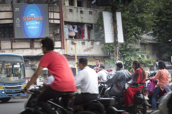 Image -1- India's first OOH Programmatic campaign is for SpiderMan-FFH-from Dentsu Webchutney and Sony Pictures Entertainment-mediabrief