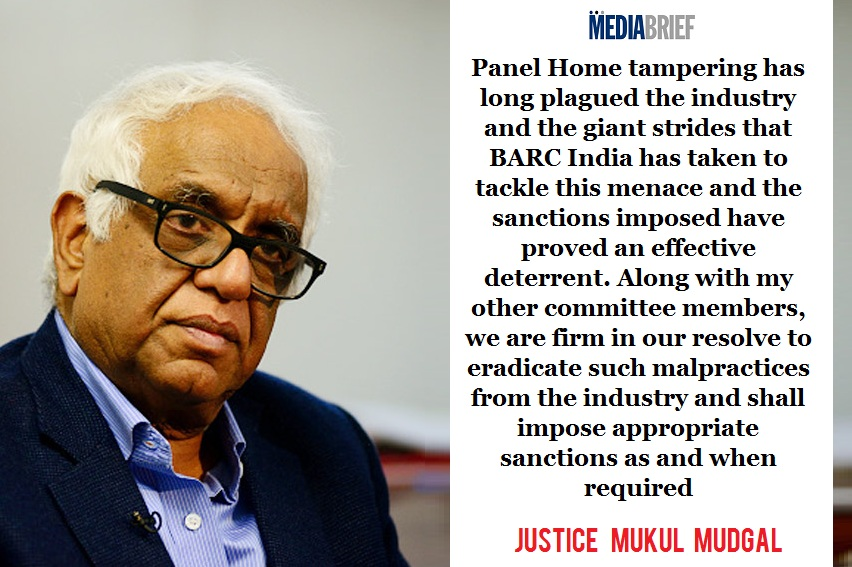 image Justice Mukul Mudgal praises BARC India's efforts against Panel Tampering-MediaBrief