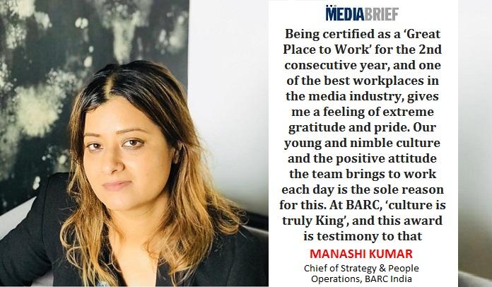 image-Manashi Kumar - Chief of Strategy & People Operations - BARC India -MediaBrief