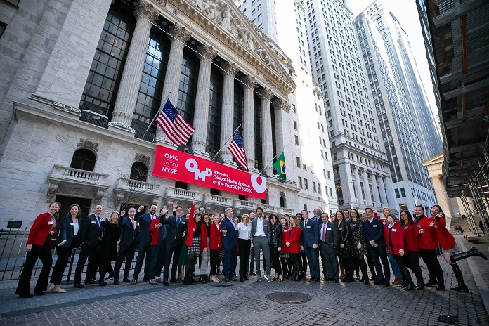 OMD was invited to open the New York Stock Exchange on Monday February 24th after being named Adweek's Global Media Agency of the Year once again