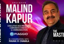 image Malind Kapur EVP Piaggio on The Master's VOice Podcast Pavan R Chawla MediaBrief