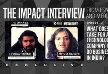 EP 2 IMPACT INTERVIEW ESYA CENTRE MEDIABRIEF - udbhav tiwari and megha bahree