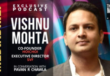 IMAGE-VISHNU MOHTA ON THE MASTER'S VOICE PODCAST WITH PAVAN R CHAWLA MEDIABRIEF