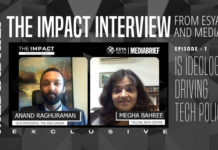 image-Ep 1 of The Impact Interview ESYA Centre and MediaBrief - Anand Raghuraman Megha Bahree